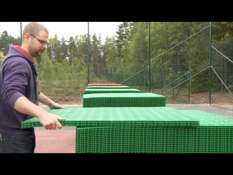 Bergo Tennis court - installation instruction