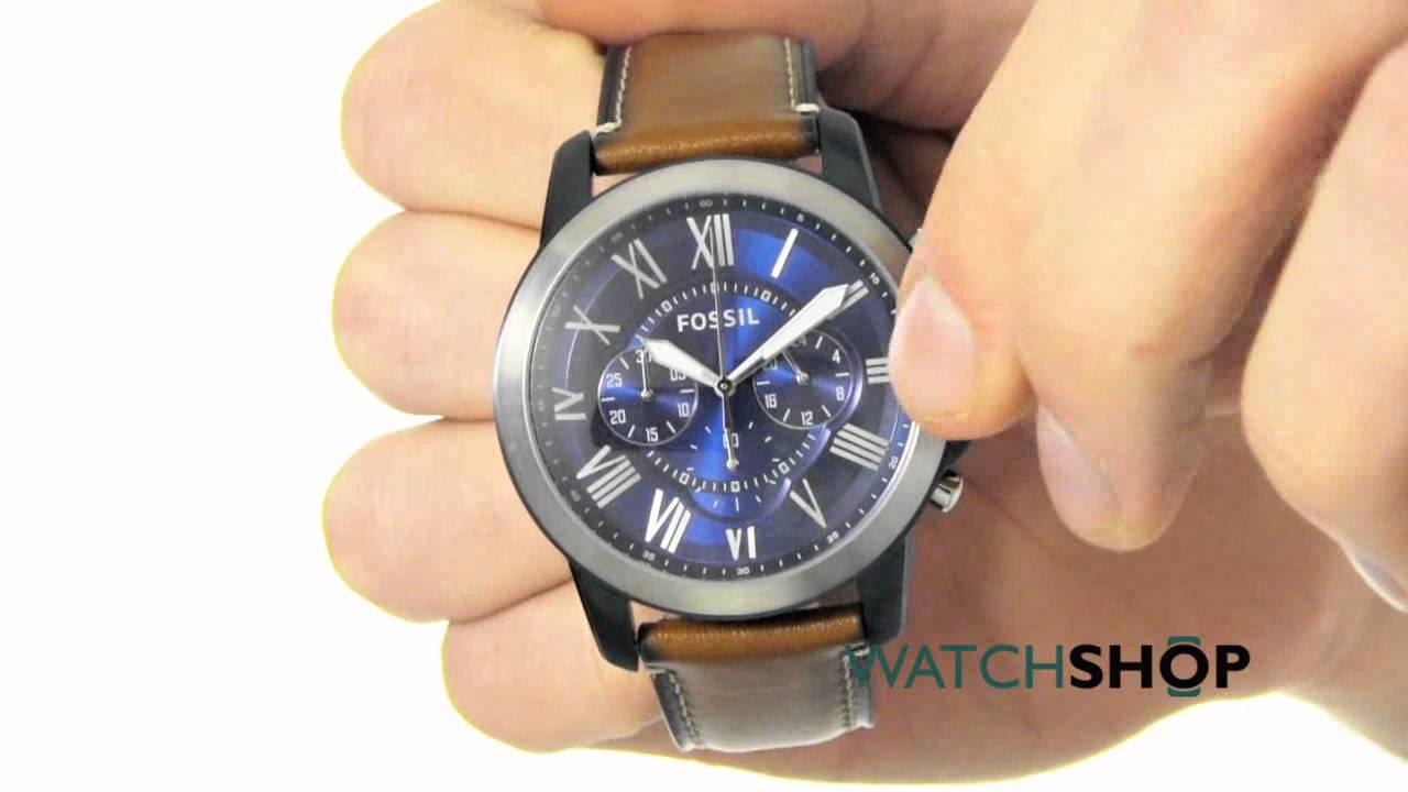 14c1311b05fe Fossil Men s GRANT Chronograph Watch (FS5151) - YouTube
