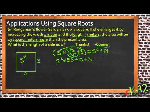 Application of square root in real life