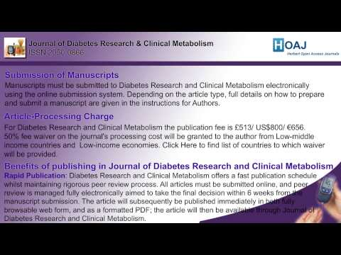 Journal of Diabetes Research & Clinical Metabolism