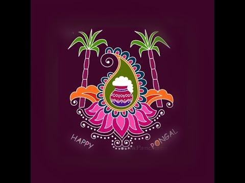 sankranti flower muggulu Easy Rangoli Designs Sankranthi  Happy Makar Sankranti Rangoli(Pongal)