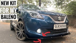 installed front splitters in my car   universal body kit for all cars   baleno modified Video