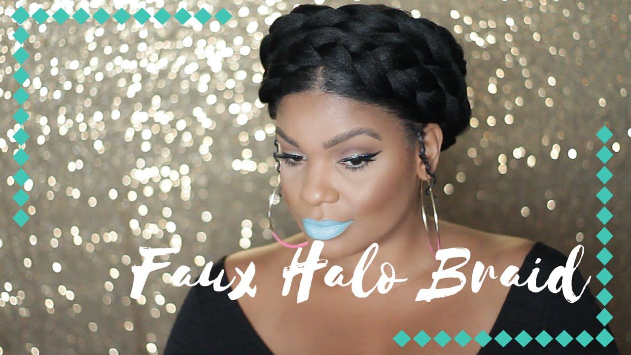 GODDESS BRAID ON 4C NATURAL HAIR TUTORIAL YouTube