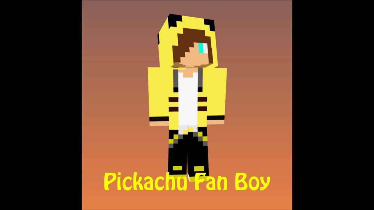 Skin Video Pickachu Fan Boy YouTube - Skins guapos para minecraft pe