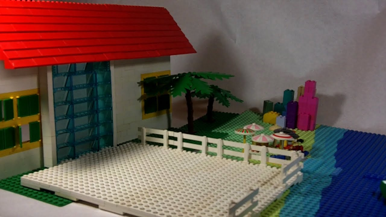 How to build lego beach house youtube for How to build a beach house
