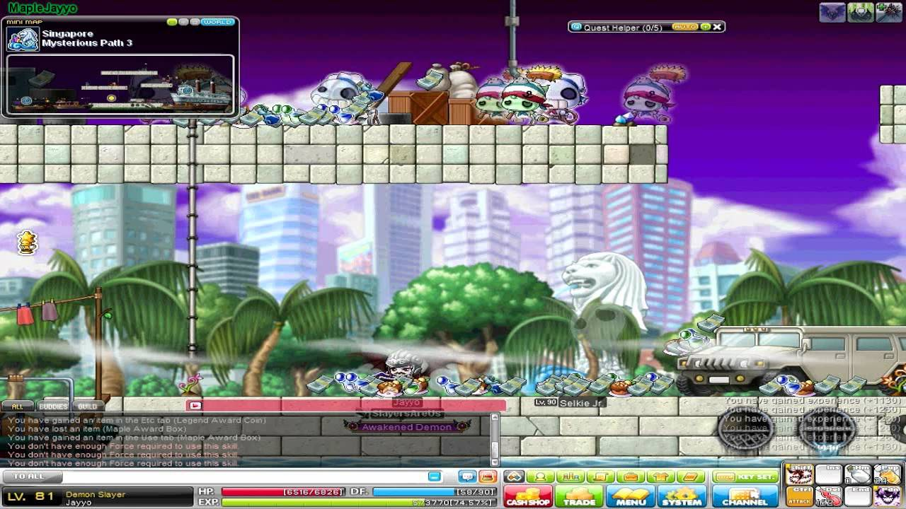 maplestory how to get to mp3