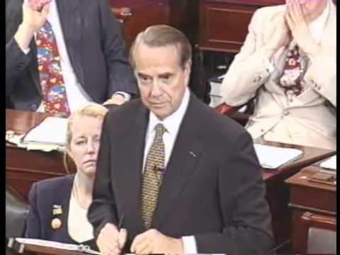 Dole Bids Farewell to the Senate