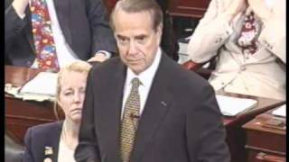 Bob Dole's Farewell Speech to the United States Senate (1996)