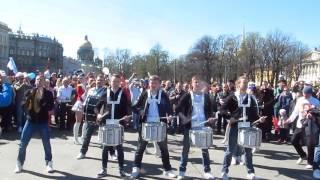 Шоу барабанщиков на Дворцовой площади. 1 мая 2016 года.