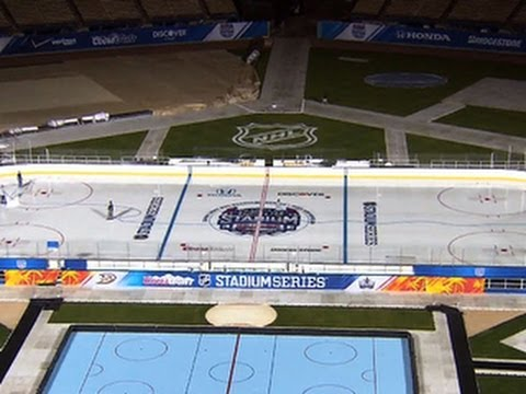 NHL brings outdoor hockey to Southern Calif.