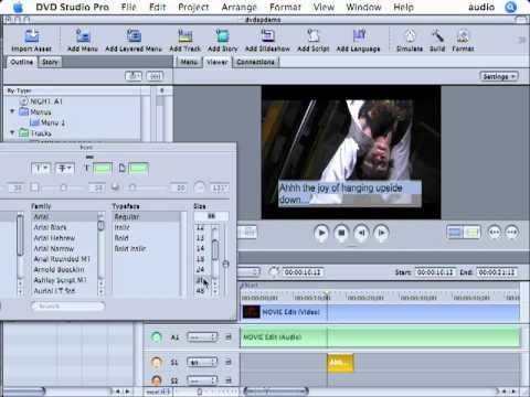 DVD Studio Pro Tutorial   101   Basic Subtitles