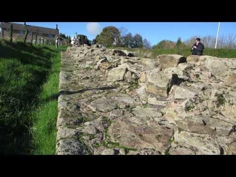 Hadrian's Wall the original border between Britannia (England) and Caledonia (Scotland)