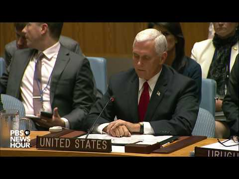 WATCH: Vice President Pence speaks during UN Security Council meeting