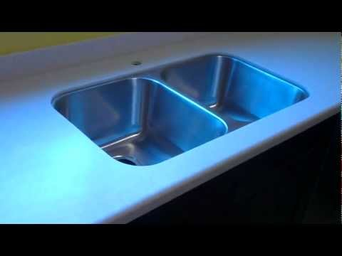 Livingstone Solid Surface Countertop Installed With A Tritan Stainless  Steel Undermount Sink