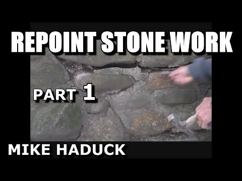 How I Re Point A Old Stone Wall Mike Haduck Youtube