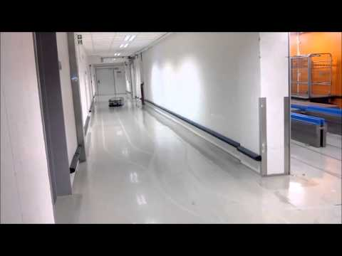Robot Automatic Guided Vehicle Transcar LTC 2 Hospital Transport