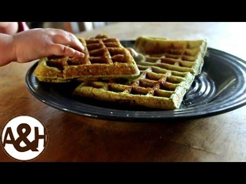 HEALTHY, delicious waffles!! (no processed sugars at all!)