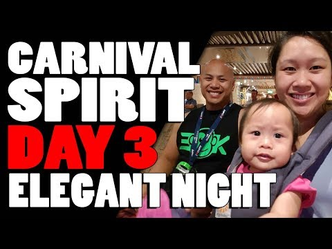 Carnival Spirit Cruise Day 3 Vlog - Elegant Night (Mon, 4 Dec 2017)