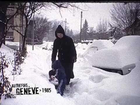 Autrefois Genève - La neige du siècle - 16 février 1985