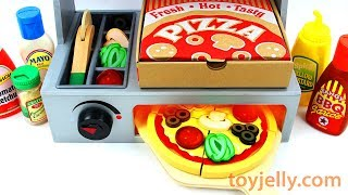 How to Make Play Doh Pizza Toy Velcro Cutting with Microwave Oven Baby Toy Appliance for K ...