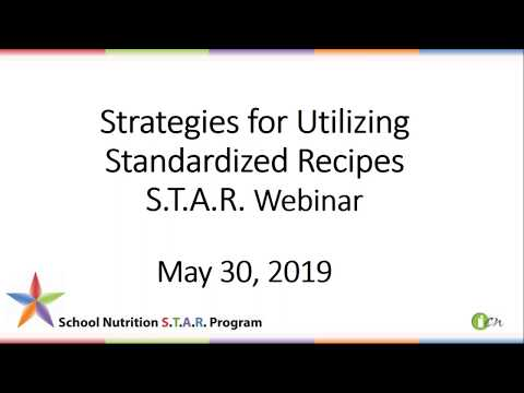 School Nutrition STAR Program - Institute of Child Nutrition