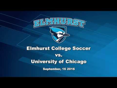 20160916 Elmhurst College Men's Soccer Vs University of Chicago