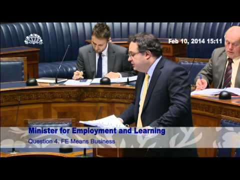 Question Time: Employment and Learning 10 February 2014
