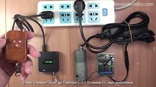 Commande moteur CC à distance sans fil par téléphone/tablette