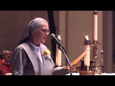 Sisters of St Paul de Chartres 50th Anniversary Mass  Sister Gloria Schultz Speaks