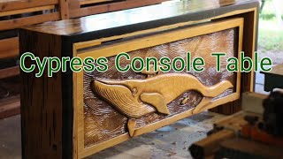 Making Pecky Cypress Resin Table and Relief Carving