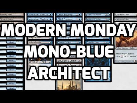 Modern Monday: Mono-Blue Architect (Deck Tech & Matches)