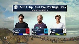 MEO Rip Curl Pro : Florence et Smith filent en quarts, Florès et Bourez en repêchage