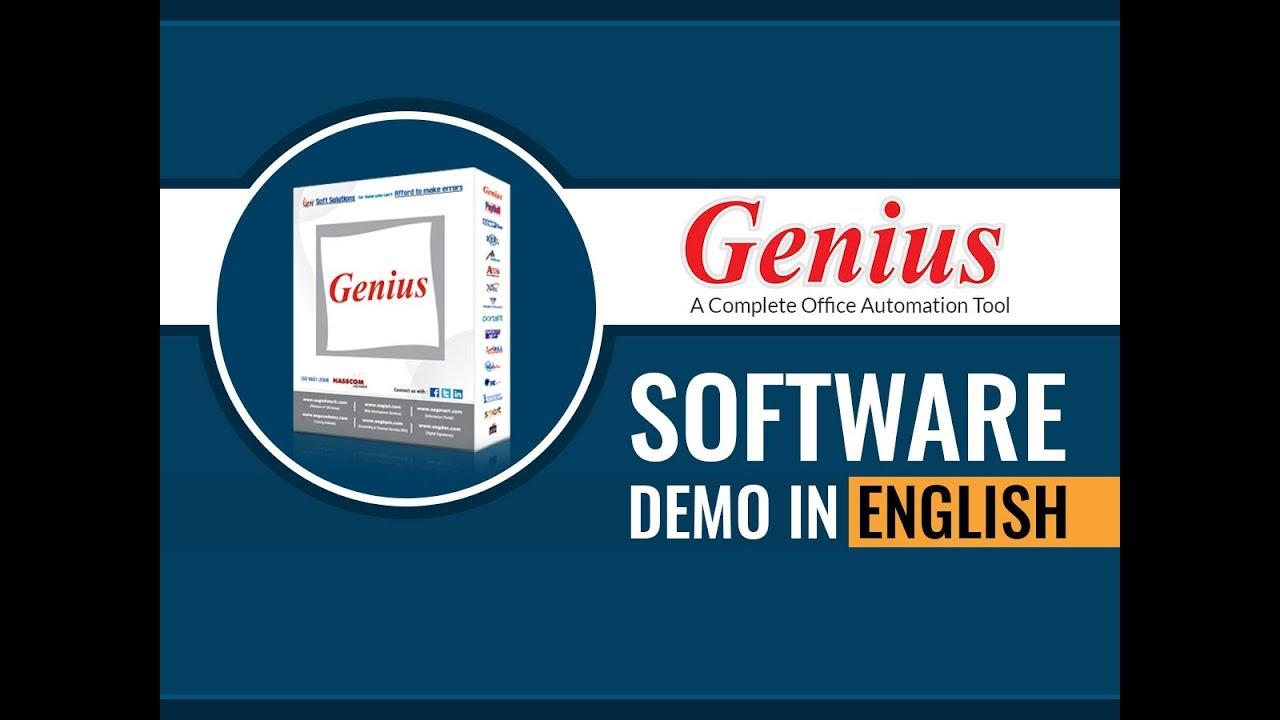 Genius Software Demo - SAG Infotech