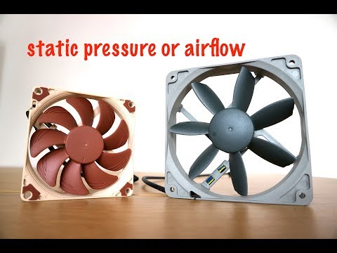High Airflow fans VS High Static Pressure fans-The basic understanding of PC cooling fans
