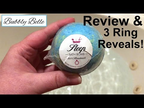 Bubbly Belle Bath Bomb Review And 3 Ring Reveals Youtube