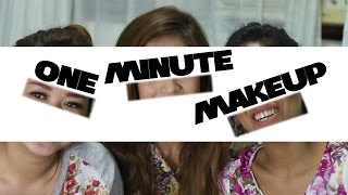 One Minute Makeup Challenge
