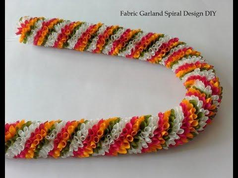 Fabric Garland Spiral Design DIY