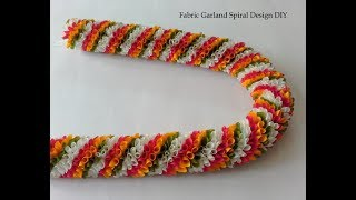 Fabric Garland Spiral Design DIY