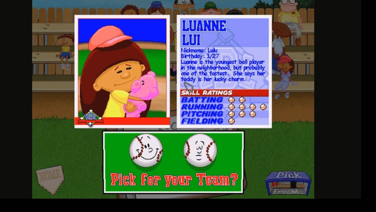 Let S Play Backyard Baseball Part 1 Updating The Roster Youtube