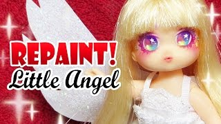 Repaint! Christmas Angel Doll Custom Little Mimi OOAK 리틀...