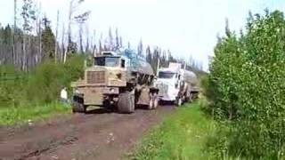 6x6 Pulling out tanker