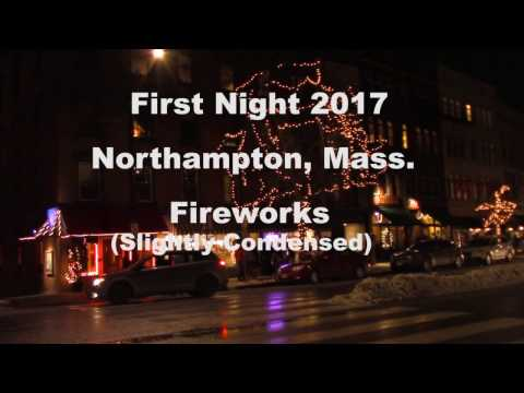 First Night 2017 Fireworks in Northampton, Massachusetts