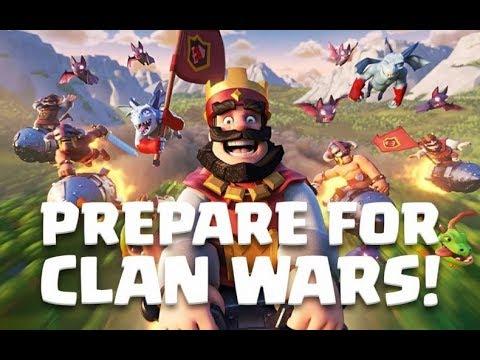 UPDATE! 1.MAL CLANKRIEGE! Clan Wars spielen | Clash Royale deutsch