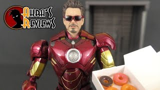 S.H. Figuarts Iron Man Mark IV Hall Of Armor Set Bandai Action Figure Review Recensione