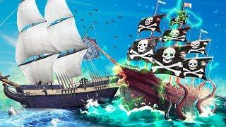 НАПАЛИ НА ПОДВОДНЫЙ КОРАБЛЬ СКЕЛЕТОВ! БИБА И БОБА И АРМИЯ ПРОКЛЯТЫХ СКЕЛЕТОВ В SEA OF THIEVES