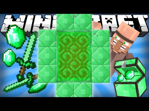 If an Emerald Dimension was Added - Minecraft