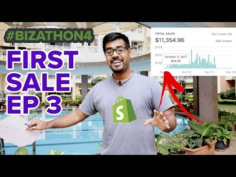 SHOPIFY BEGINNER TUTORIAL PT. 3 - Getting The First Sale (Bizathon4 Ep3)