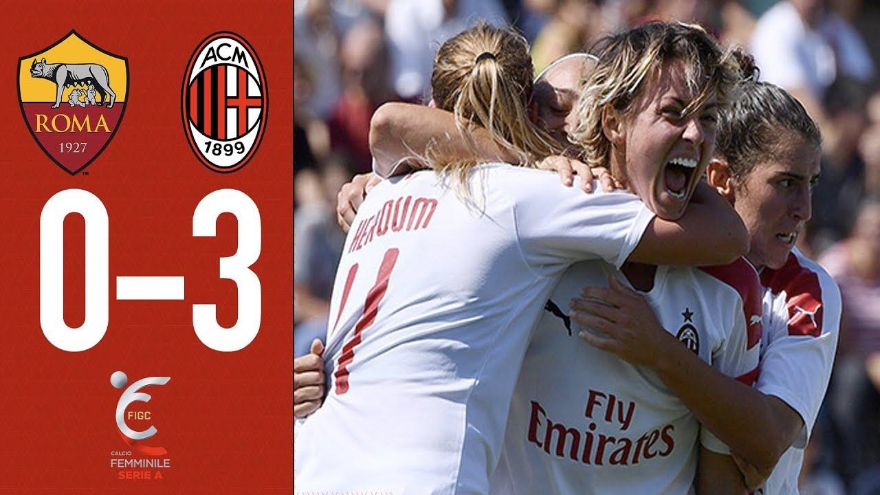 Highlights   Roma 0-3 AC Milan   Matchday 1 Serie A Women 2019/20