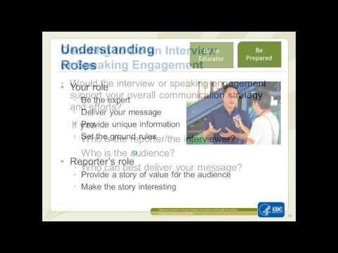 Webinar: Spokesperson Training, Part 1 of 2 - Aug 17, 2015