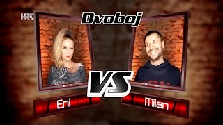 "Eni vs. Milan: ""Like I Can"" - The Voice of Croatia - Season2 - Battle1"